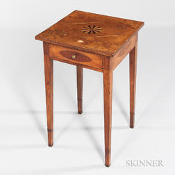Single-drawer Worktable with Nathan Lumbard-attributed Top