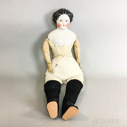 Large China Shoulder Head Doll