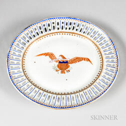 Export Porcelain Eagle-decorated Oval Platter
