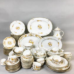Eighty-eight Pieces of Meissen Yellow Dragon and Bird Porcelain Tableware.     Estimate $800-1,200