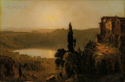 Sanford Robinson Gifford (American, 1823-1880)      Sketch of the Lago di Nemi