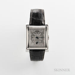 Bedat No. 7 Stainless Steel Dual Time Zone Wristwatch