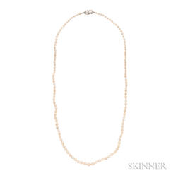 Art Deco Natural Pearl Necklace
