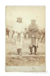 "Framed Oversize Cabinet Card Photograph of Chiefs ""Geronimo"" and ""Natches"" at Their Surrender"