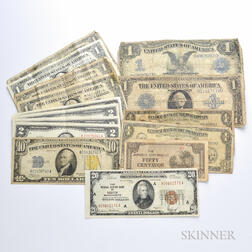 Group of Mostly American Currency