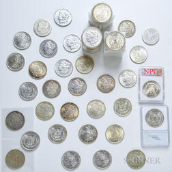 Eighty-eight Morgan Dollars and Five Peace Dollars