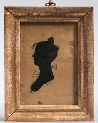 Hollow-cut and Ink Silhouette of a Young Woman