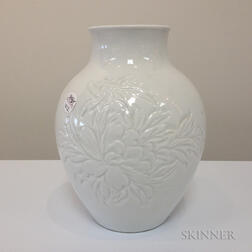 White-glazed Vase
