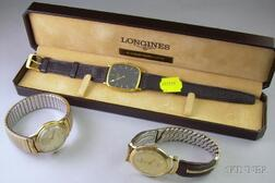 Boxed Longines Rectangular Cased 17-jewel Man's Wristwatch