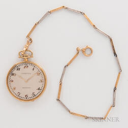 Tiffany & Co. Platinum and Gold Open-face Watch