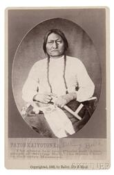 """Framed """"Sitting Bull"""" Cabinet Card,   by Bailey, Dixon, and Mead"""