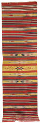 Cotton and Metal-thread Kilim