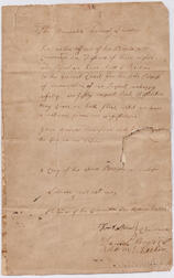 Lincoln, Benjamin (1733-1810) and Daniel Shays (c. 1747-1825) Two Signed Letters, 31 January 1787.