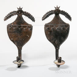 Pair of Neoclassical-style Tin Sconces