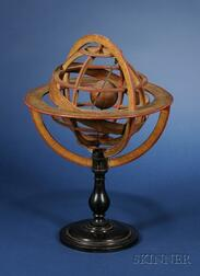 12-inch Pasteboard Ptolemaic Armillary Sphere by Delamarche