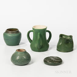 Five Pieces of Hampshire Art Pottery