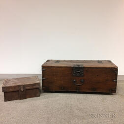 Two Wooden Storage Boxes