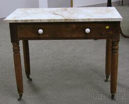 Empire White Marble-top Washstand with Long Drawer.