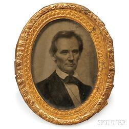 Abraham Lincoln Ambrotype Campaign Button