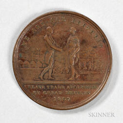 "1814 ""Slave Trade Abolished"" Macaulay and Babington Bronze Token for Sierra Leone"