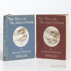 Potter, Beatrix (1866-1943) The Tale of Mr. Jeremy Fisher  , Two Copies.