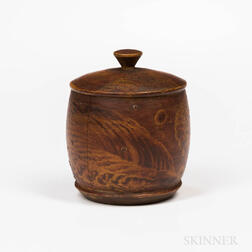 Putty-painted Turned Lidded Box