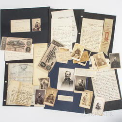 Group of Civil War-era Images, Letters, and Documents