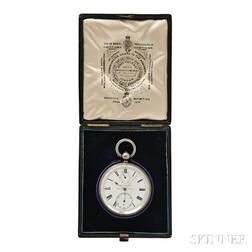 James Poole & Company Silver Watch Made for William Bond & Son