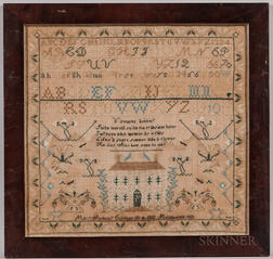 "Needlework Sampler ""Mary Anthony,"""