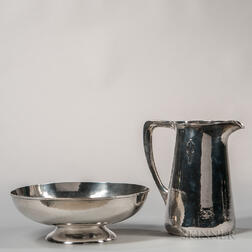 Two Pieces of Lebolt Sterling Silver Tableware