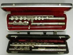 Two Silver Flutes