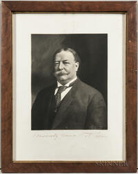 Taft, William Howard (1857-1930) Signed Portrait.