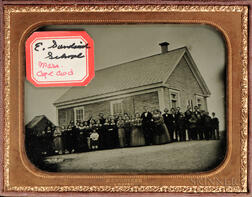 Quarter-plate Ambrotype of the East Sandwich, Massachusetts, Schoolhouse