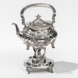 Gorham Sterling Silver Tea Kettle-on-Stand with Burner