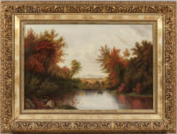 American School, 19th/20th Century      Lake in Autumn