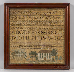 "Needlework Sampler ""Lydia Ann Rumsey,"""