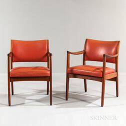 Pair of Johnson Company Armchairs