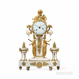 Marble and Ormolu-mounted Figural Clock
