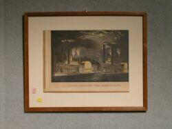 Framed Currier & Ives Print