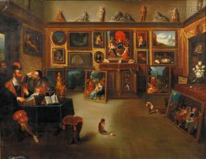 Michele Cortazzi (Italian, b. 1800) After Cornelis De Bailleur (Flemish, 1607-1671)      A Royal Picture Gallery