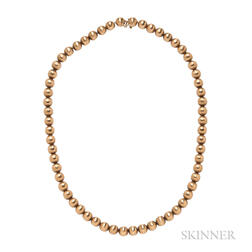 18kt Gold Bead Necklace
