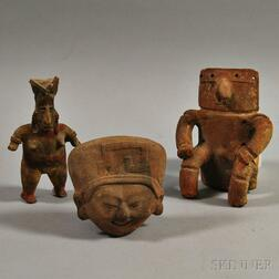 Three Pre-Columbian Pottery Items