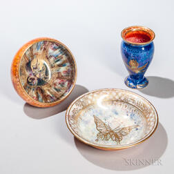 Three Wedgwood Lustre Items