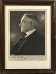 Harding, Warren G. (1865-1923) Signed Photograph.