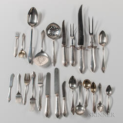 "Durgin ""Chatham"" Pattern Sterling Silver Flatware Service"
