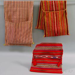 Three Woven Cotton and Wool Bags