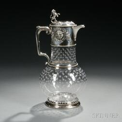 Victorian Sterling Silver-mounted Glass Claret Jug