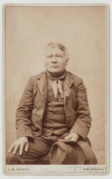 """Framed Oversized Cabinet Card of Chief """"Grass"""" by J.N. Choate"""
