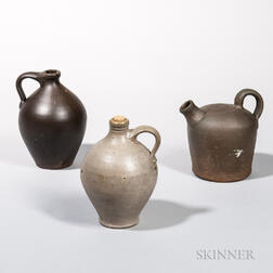 Three Stoneware Jugs