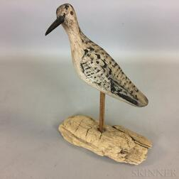 Carved and Painted Shorebird